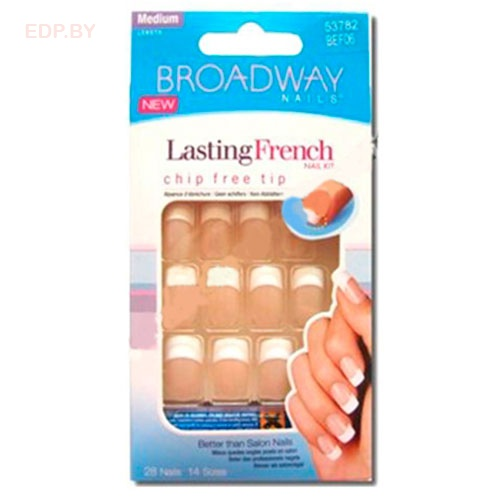 Broadway. BEF06(53782) Набор наклад.ногт.с француз.маникюром Lasting French Nail Kit - Unlimited