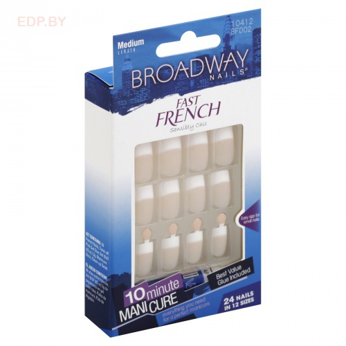 Broadway. BFD02 (10412) Набор наклад.ногт.с французским маникюром Fast French Nail Kit - Pink